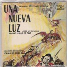 Discos de vinilo: UNA NUEVA LUZ (CONCURSO DE CUENTOS) MI TIA CLARA / MARIA LA LOCA / AQUELLA MAÑANA (DOBLE EP 1967). Lote 93325375