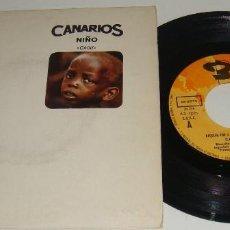 Discos de vinilo: CANARIOS - NIÑO / REQUIEM FOR A SOUL - LOS CANARIOS. Lote 95762027