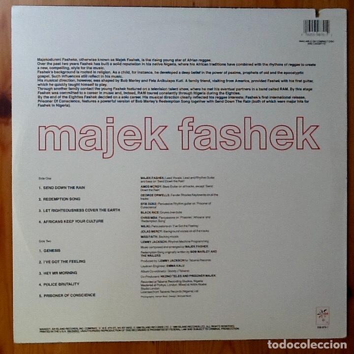 Discos de vinilo: MAJEK FASHEK : PRISONER OF CONSCIENCE [USA 1989] - Foto 2 - 93356460