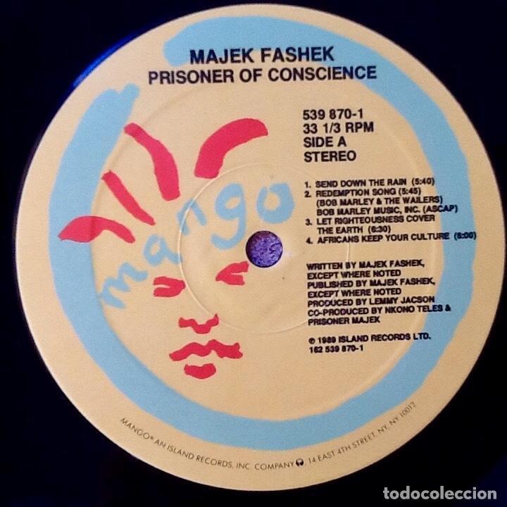 Discos de vinilo: MAJEK FASHEK : PRISONER OF CONSCIENCE [USA 1989] - Foto 3 - 93356460
