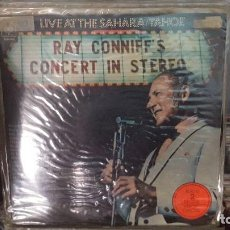 Discos de vinilo: LP DOBLE GATEFOLD - RAY CONNIFF - LIVE AT THE SAHARA/TAHOE - CBS S-66256 - 1970. Lote 130701971