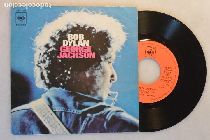 SINGLE BOB DYLAN GEORGE JACKSON. CBS 1971 (Música - Discos - Singles Vinilo - Pop - Rock - Extranjero de los 70)