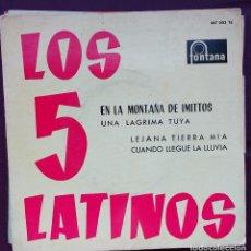 Discos de vinilo: LOS 5 LATINOS / EN LA MONTAÑA DE IMITTOS + 3 . Lote 93400765