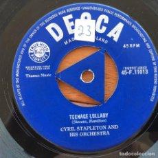 Discos de vinilo: CYRIL STAPLETON - TEENAGE LULLABY . SINGLE . 1958 UK. Lote 93403240