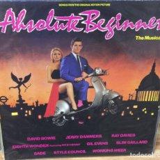 Discos de vinilo: LP - B.S.O. - ABSOLUTE BEGINNERS - VIRGIN LL-207.588 - 1986. Lote 93408675