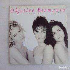Discos de vinilo: OBJETIVO BIRMANIA, LOS HOMBRES NO LIGAN, LP EDICION ESPAÑOLA 1991, EPIC SONY MUSIC. Lote 93594470