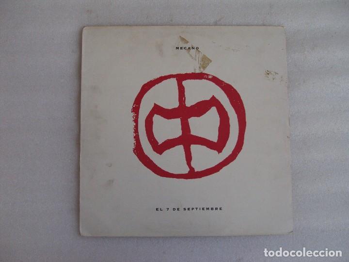 MECANO, EL 7 DE SEPTIEMBRE, MAXI-SINGLE EDICION ESPAÑOLA 1991, BMG ARIOLA (Música - Discos de Vinilo - Maxi Singles - Grupos Españoles de los 70 y 80)