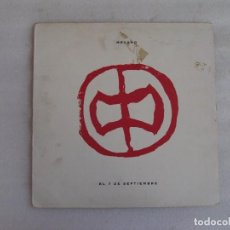 Discos de vinilo: MECANO, EL 7 DE SEPTIEMBRE, MAXI-SINGLE EDICION ESPAÑOLA 1991, BMG ARIOLA. Lote 93594845