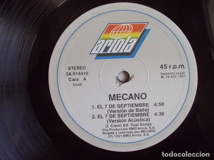 Discos de vinilo: MECANO, EL 7 DE SEPTIEMBRE, MAXI-SINGLE EDICION ESPAÑOLA 1991, BMG ARIOLA - Foto 5 - 93594845