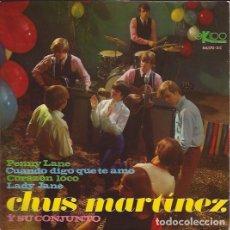 Discos de vinilo: EP- CHUS MARTINEZ Y SU CONJUNTO EKIPO 66170 BEATLES & ROLLING STONES COVERS SPANISH BEAT. Lote 93598145