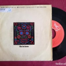 Discos de vinilo: ORCHESTRAL MANOUVRES IN THE DARK, SO IN LOVE (VIRGIN) SINGLE ESPAÑA - OMD. Lote 93600690