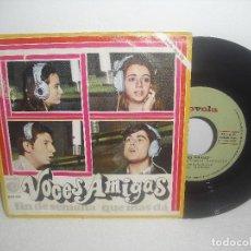 Discos de vinilo: VOCES AMIGAS - FIN DE SEMANA + QUE MAS DA / NOVOLA VINILO PROMOCIONAL - AÑO 1969. Lote 156873420