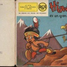 Discos de vinilo: WALT DISNEY : HIAWATHA ES UN GRAN CAZADOR (RCA, 1958) VINILO ROJO Y COMIC. Lote 93614080