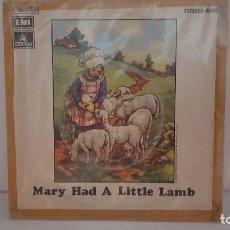 Discos de vinilo: SINGLE - WINGS - MARY HAD A LITTLE LAMB / LITTLE WOMAN LOVE - EMI ODEON 1J 006-05.058 - 1972. Lote 93626635
