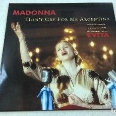 Discos de vinilo: MADONNA-DONT CRY FOR ME ARGENTINA-EVITA-MAXI SINGLE-N. Lote 93650150