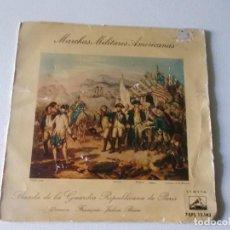 Discos de vinilo: MARCHAS MILITARES AMERICANAS ,BANDA DE LA GUARDIA REPUBLICANA DE PARIS. Lote 93670355