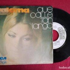 Discos de vinilo: PALOMA, QUE CALLE TAN LARGA (RCA) SINGLE PROMOCIONAL - FESTIVAL BENIDORM R.E.M.. Lote 93679335