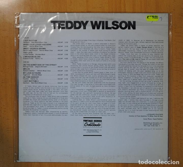 Discos de vinilo: TEDDY WILSON - TEDDY WILSON - LP - Foto 2 - 93684427