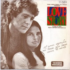 Disques de vinyle: XX SINGLE, BANDA SONORA ORIGINAL DE LA PELICULA PARAMOUNT, LOVE STORY.. Lote 93687505