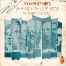 Discos de vinilo: SINGLE, SYMPHONIES, WALDO DE LOS RIOS MOZART-HAYDN.. Lote 93688180