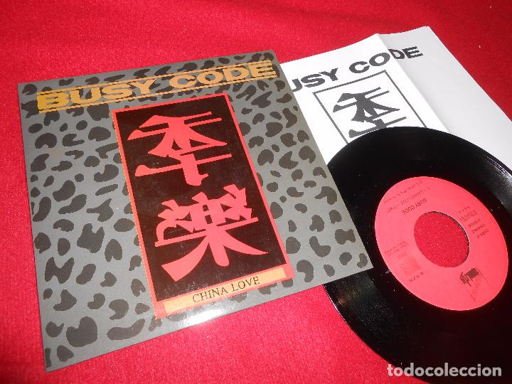 Discos de vinilo: BUSY CODE CHINA LOVE/STAND BY ME SINGLE 7 1992 PROMO QUALITY + HOJA PROMO - Foto 1 - 110499144