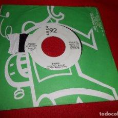 Discos de vinilo: PARIS LET'S FALL IN LOVE/ES POR AMOR SINGLE 7'' 1992 AREA 92. Lote 93721480
