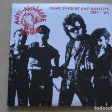 Discos de vinilo: ANTI-NOWHERE LEAGUE: PUNK SINGLES AND RARITIES 1981 - '84 / THE CLASH, COCKNEY REJECTS, SEX PISTOLS. Lote 93737960