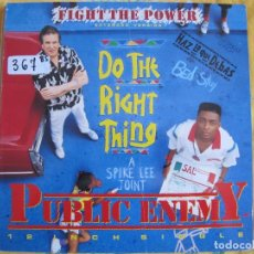 Discos de vinilo: MAXI - PUBLIC ENEMY - FIGHT THE POWER (DO THE RIGHT THING) (SPAIN, MOTOWN RECORDS 1989). Lote 98522350