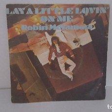Discos de vinilo: SINGLE - ROBIN MCNAMARA - LAY A LITTLE LOVIN ON ME - DOT RECORDS N-45-5 - 1971 - PORTUGAL. Lote 93801170