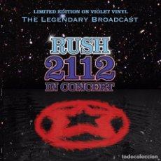 Discos de vinilo: RUSH 2112 IN CONCERT EDICION LIMITADA VINILO PÚRPURA. Lote 93803010