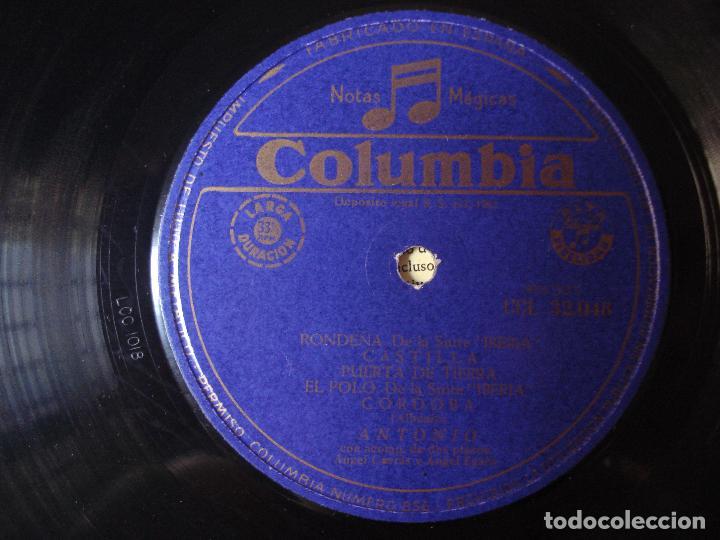 Discos de vinilo: ISAAC ALBENIZ , ANTONIO LA MUSICA ESPAÑOLA , COLUMBIA 1961 - Foto 3 - 93822225