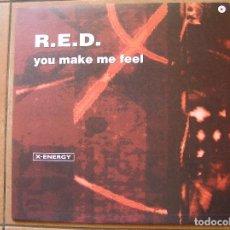 Discos de vinilo: R.E.D. – YOU MAKE ME FEEL - X-ENERGY RECORDS 2001 - MAXI - P -. Lote 93834555