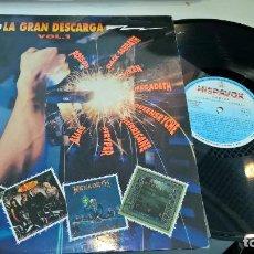 Discos de vinilo: MUSICA LP HEAVY LA GRAN DESCARGA VOL 1 POISON ALIAS STRYPER MEGADETH HISPAVOX 1990 . Lote 93836385