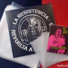 Discos de vinilo: 100 FUNDAS EXTERIORES GALGA 400 PARA DISCOS DE VINILO LP + 100 FUNDAS PARA 7 SINGLE EP. Lote 93854565