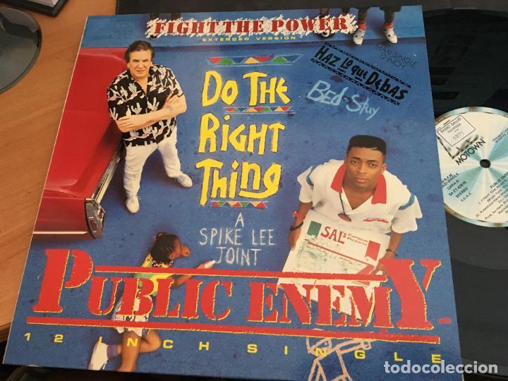 PUBLIC ENEMY (FIGHT THE POWER. DO THE RIGHT THING) MAXI ESPAÑA 1989 (VIN-T) (Música - Discos de Vinilo - Maxi Singles - Rap / Hip Hop)
