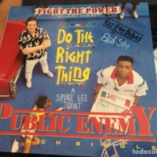 Discos de vinilo: PUBLIC ENEMY (FIGHT THE POWER. DO THE RIGHT THING) MAXI ESPAÑA 1989 (VIN-T). Lote 93854595