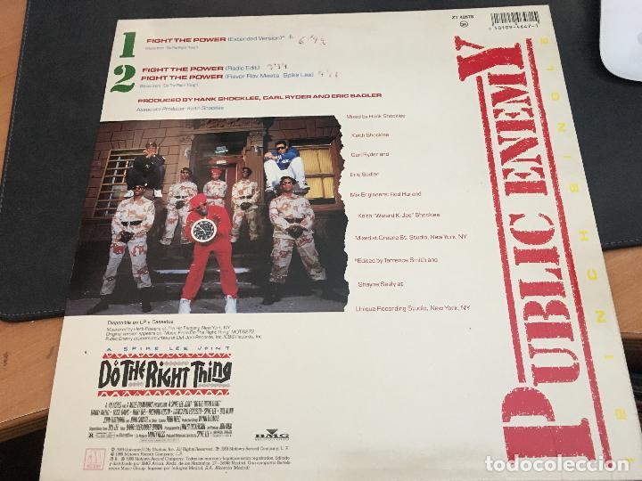 Discos de vinilo: PUBLIC ENEMY (FIGHT THE POWER. DO THE RIGHT THING) MAXI ESPAÑA 1989 (VIN-T) - Foto 2 - 93854595