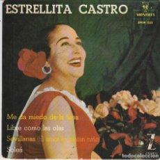 Discos de vinilo: ESTRELLITA CASTRO / ME DA MIEDO DE LA LUNA + 3 (EP 1962). Lote 103915951