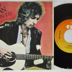 Discos de vinilo: BOB DYLAN - SAVED + ARE YOU READY - SINGLE - CBS 1980 SPAIN. Lote 93858560