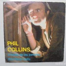 Discos de vinilo: PHIL COLLINS ''A TRAVES DE LAS PAREDES'' SINGLE DE VINILO DE 7'' DEL AÑO 1982. Lote 93862875