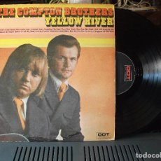 Discos de vinilo: THE COMPTON BROTHERS YELLOW RIVER LP USA 1972 PDELUXE. Lote 93875505