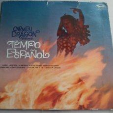 Discos de vinilo: CARMEN DRAGON - CONDUCTS TEMPO ESPAÑOL - CAPITOL - GRAN BRETAÑA - 280 GR - BUEN ESTADO. Lote 93878425