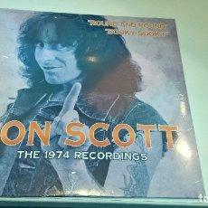 Discos de vinilo: MUSICA SINGLE BON SCOTT THE 1974 RECORDINGS ROUND AND ROUND SOOK SOOKY PRECINTADO HEAVY PG. Lote 93907090