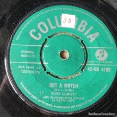 Discos de vinilo: RUSS CONWAY - GOT A MATCH . 1958 UK . Lote 93909585