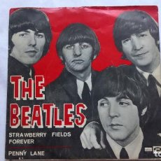 Discos de vinilo: THE BEATLES - STRAWBERRY FIELDS FOREVER - PENNY LANE - ODEON 1967. Lote 93940805