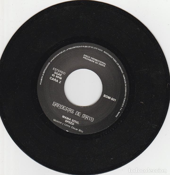 Discos de vinilo: BANDERAS DE MAYO / NERVOUS SLASH / MAMA SOUL / SPEED (SINGLE PROMOCIONAL SOLO 400 COPIAS) CON LIBRET - Foto 2 - 93997780