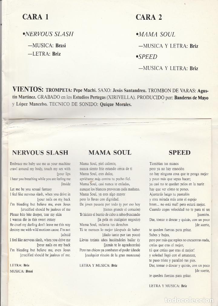 Discos de vinilo: BANDERAS DE MAYO / NERVOUS SLASH / MAMA SOUL / SPEED (SINGLE PROMOCIONAL SOLO 400 COPIAS) CON LIBRET - Foto 3 - 93997780