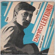 Discos de vinilo: BENITO LERTXUNDI / EGIA + 3 (EP 1967). Lote 94001790