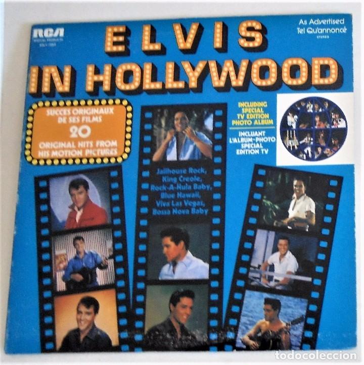 ELVIS PRESLEY - ELVIS IN HOLLYWOOD, 1976 LP - CANADA - DISCO DE VINILO EX (Música - Discos - LP Vinilo - Pop - Rock Extranjero de los 50 y 60)