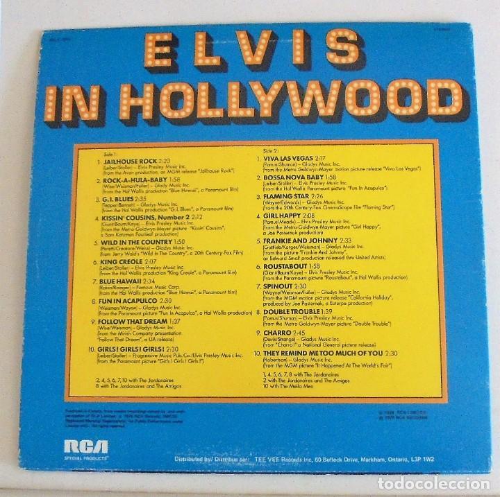 Discos de vinilo: ELVIS PRESLEY - ELVIS IN HOLLYWOOD, 1976 LP - CANADA - DISCO DE VINILO EX - Foto 2 - 94014810